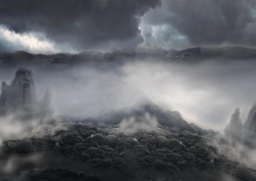 montagne sombre